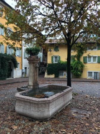 Small piazza leaving Trento
