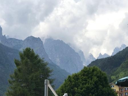 The Dolomites from Molveno Lake